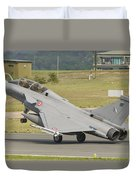 A French Air Force Rafale Jet Duvet Cover