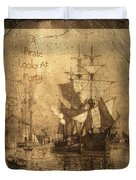 A Pirate Looks At Forty Duvet Cover by John Stephens