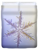 A Real Snowflake Showing The Classic Duvet Cover