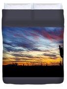 A Silhouette Sunset  Duvet Cover