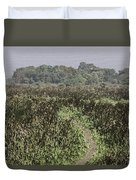 A Small Path Through Very Tall Grass Inside The Okhla Bird Sanctuary Duvet Cover