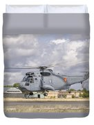 A Spanish Navy Sh-3d Helicopter Duvet Cover