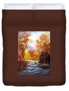 A Walk In The Fall Duvet Cover