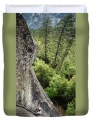 A Young Boy Climbs In Yosemite, June Duvet Cover