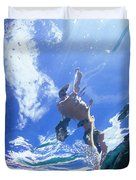 A Young Man Stand-up Paddleboards Duvet Cover
