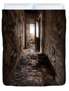 Abandoned Building - Hallway To Ladies Room Duvet Cover