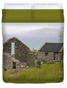 Abandoned Stone House, Slea Head Duvet Cover