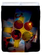Abstract 3d Shapes  Duvet Cover