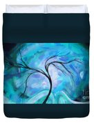 Abstract Landscape Painting Digital Texture Art By Megan Duncanson Duvet Cover