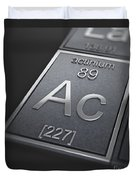 Actinium Chemical Element Duvet Cover