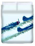 Action In The Sky During An Airshow Duvet Cover