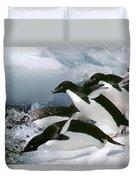 Adelie Penguins Duvet Cover