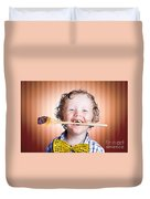 Adorable Little Boy Cooking Chocolate Easter Cake Duvet Cover