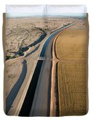 Aerial Border Patrol On The U.s.mexico Duvet Cover