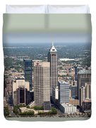 Aerial Of Downtown Indianapolis Indiana Duvet Cover