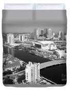 Aerial Of Downtown Tampa And Harbour Island Duvet Cover