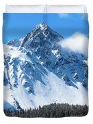 Aerial Of Mount Sneffels With Snow Duvet Cover