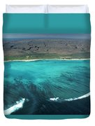 Aerial Of Ningaloo Reef And Cape Range Duvet Cover
