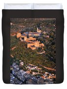 Aerial Photo  Alhambra And Albaycin In Granada Duvet Cover