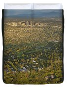 Aerial View Of Bellevue Skyline Duvet Cover