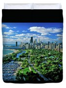 Aerial View Of Chicago, Illinois Duvet Cover