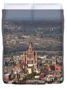 Aerial View Of San Miguel De Allende Duvet Cover