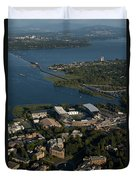 Aerial View Of The New Husky Stadium Duvet Cover