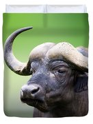 African Buffalo Portrait Duvet Cover by Johan Swanepoel