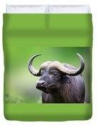 African Buffalo Portrait Duvet Cover