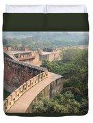 Agra Fort Tourist Destination In India Duvet Cover
