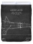 Airplane Patent Drawing From 1918 Duvet Cover