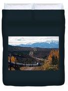 Alaska Oil Pipeline Duvet Cover