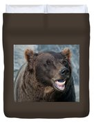 Alaskan Brown Bear Duvet Cover