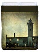 Alcatraz Island Lighthouse Duvet Cover