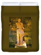 Alexander The Great In Antalya Archeological Museum-turkey Duvet Cover