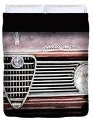 Alfa-romeo Guilia Super Grille Emblem Duvet Cover