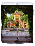 Alhambra In Granada Duvet Cover