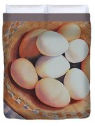 All My Eggs In One Basket Duvet Cover