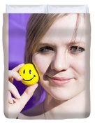 All Smiling Woman Duvet Cover