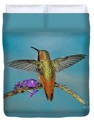 Allens Hummingbird Male Duvet Cover
