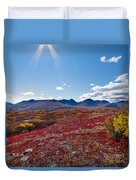Alpine Landscape In Fall Duvet Cover
