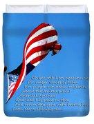 America The Beautiful - Us Flag By Sharon Cummings Song Lyrics Duvet Cover