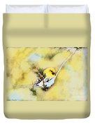 American Goldfinch - Digital Paint Duvet Cover