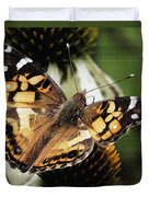 American Lady Butterfly Duvet Cover