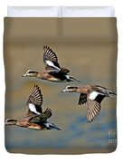 American Wigeon Drakes Duvet Cover