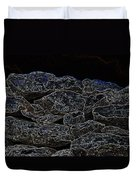 An Abstract View Of An Irish Dry Stone Wall Duvet Cover