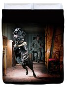 An Air Force Security Forces K-9 Duvet Cover