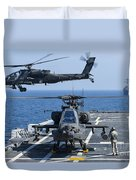 An Army Ah-64d Apache Helicopter Takes Duvet Cover