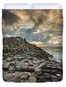 An Evening View Of The Giants Causeway Duvet Cover