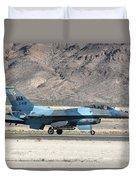 An F-16c Aggressor Jet Landing Duvet Cover